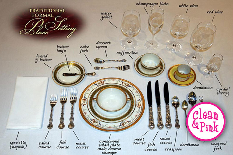Traditional Place Settings - Memphis Cleaning Service