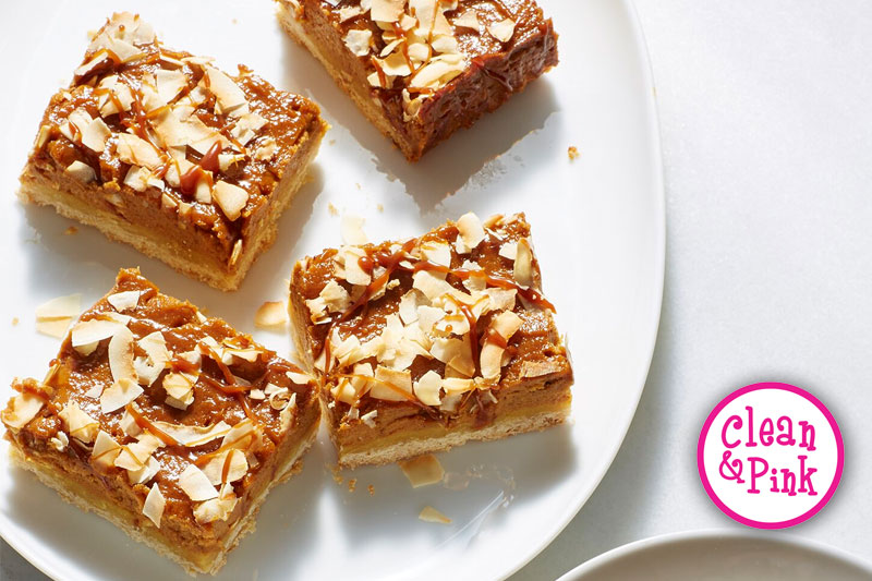 Pumpkin Caramel Pie Bars With Toasted Coconut - Memphis Cleaning Service